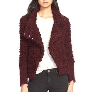 IRO Burgundy Sweater Jacket/S